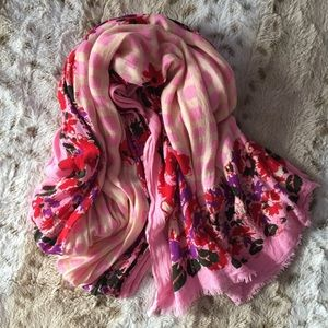 Lucky Brand Pink Floral Scarf/Wrap 🌸